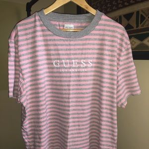 Guess Oversized Striped T-Shirt